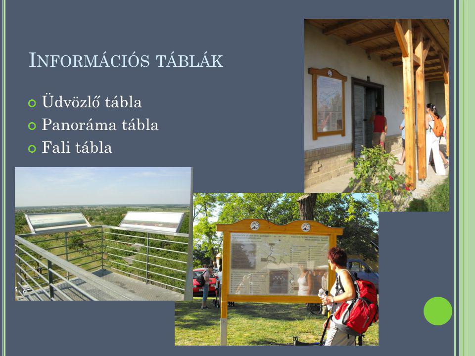 I NFORMÁCIÓS TÁBLÁK Üdvözlő tábla Panoráma tábla Fali tábla