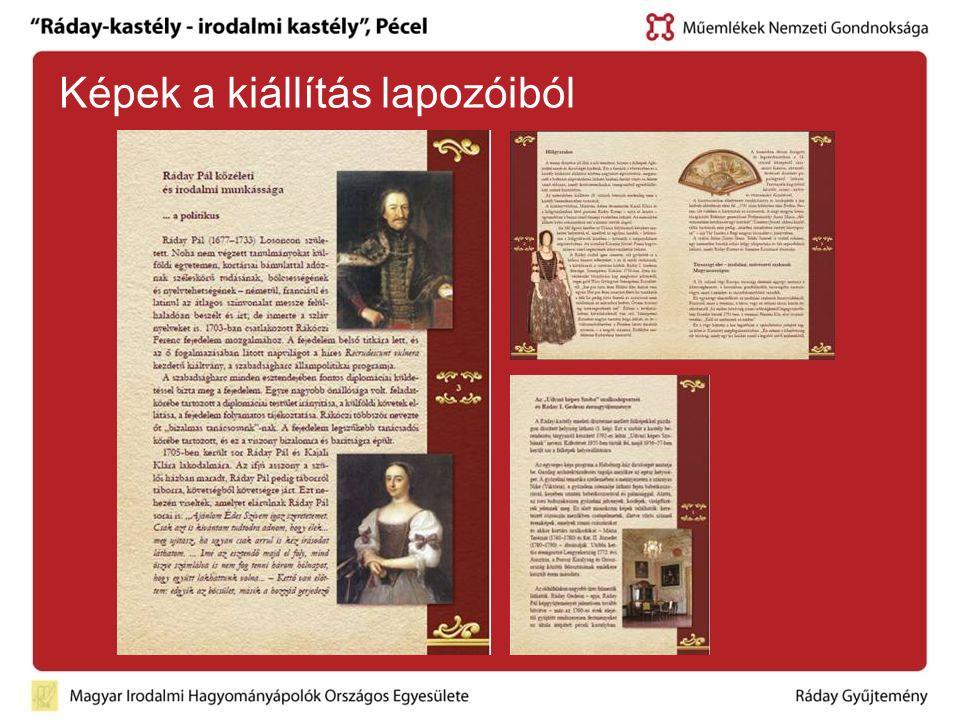 Képek a kiállítás lapozóiból