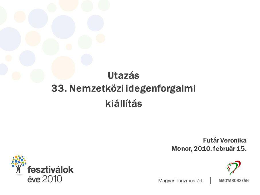 Utazás 33. Nemzetközi idegenforgalmi kiállítás Futár Veronika Monor, 2010. február 15.