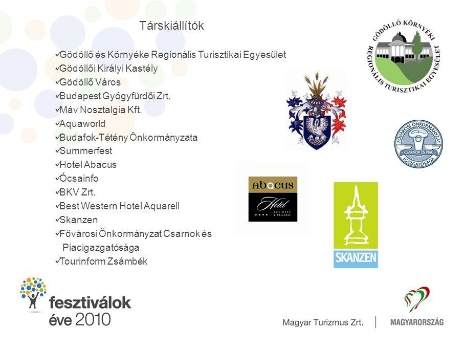 Társkiállítók Gödöllő és Környéke Regionális Turisztikai Egyesület Gödöllői Királyi Kastély Gödöllő Város Budapest Gyógyfürdői Zrt.