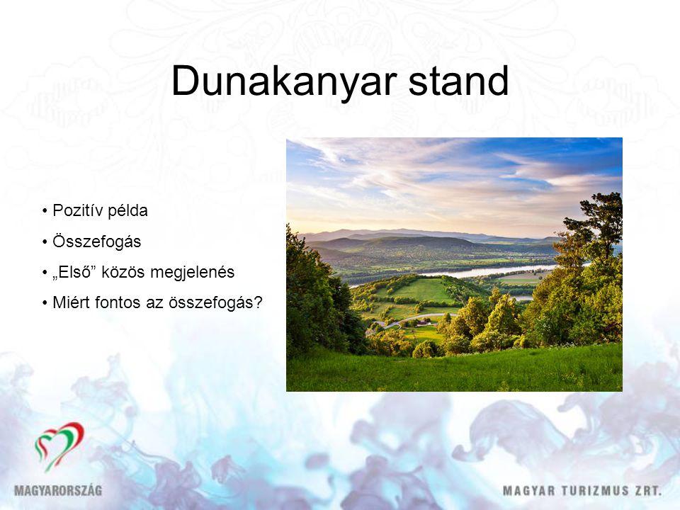 """Dunakanyar stand Pozitív példa Összefogás """"Első közös megjelenés Miért fontos az összefogás?"""