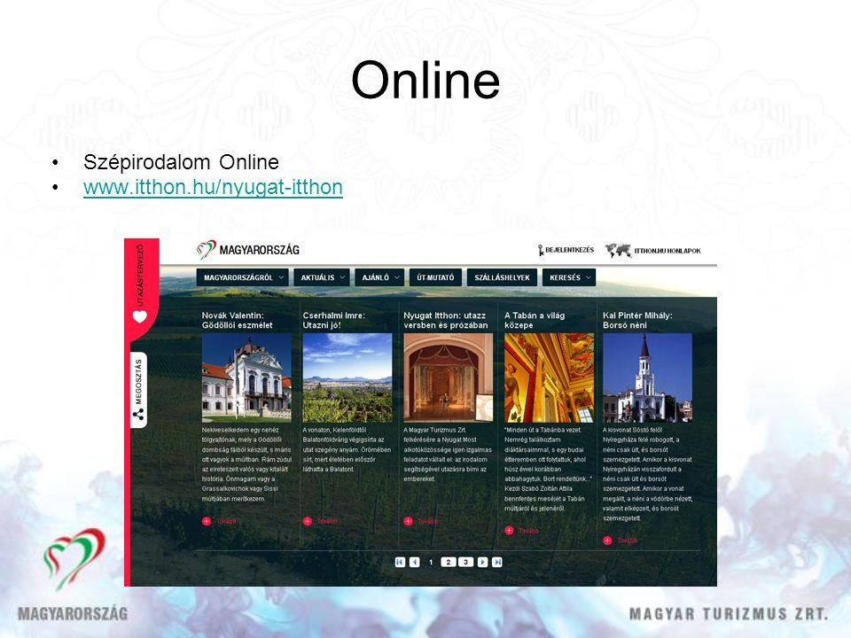 Online Szépirodalom Online www.itthon.hu/nyugat-itthon