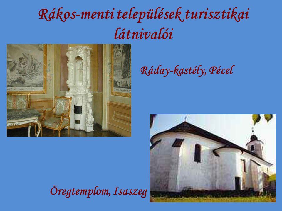 Rákos-menti települések turisztikai látnivalói Ráday-kastély, Pécel Öregtemplom, Isaszeg
