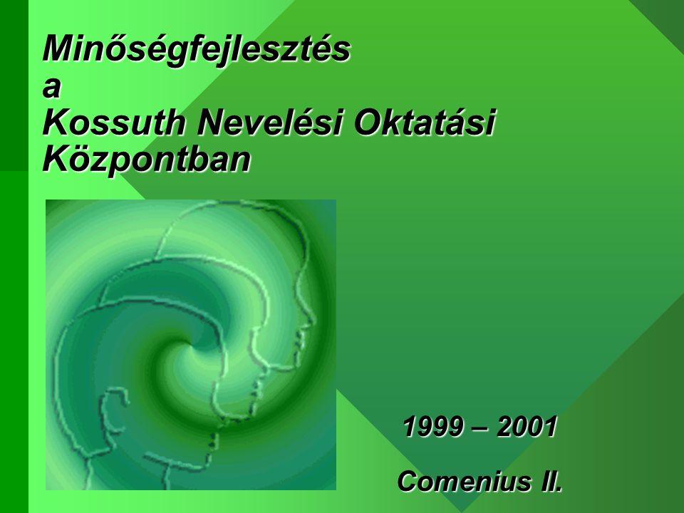 Minőségfejlesztés a Kossuth Nevelési Oktatási Központban 1999 – 2001 Comenius II.
