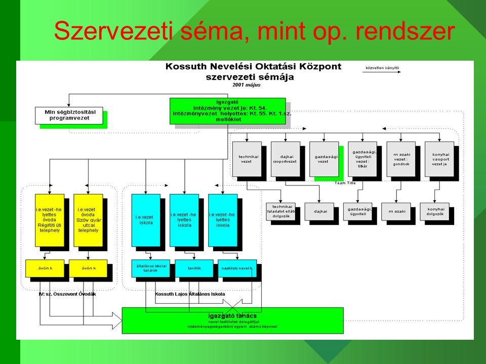 Szervezeti séma, mint op. rendszer