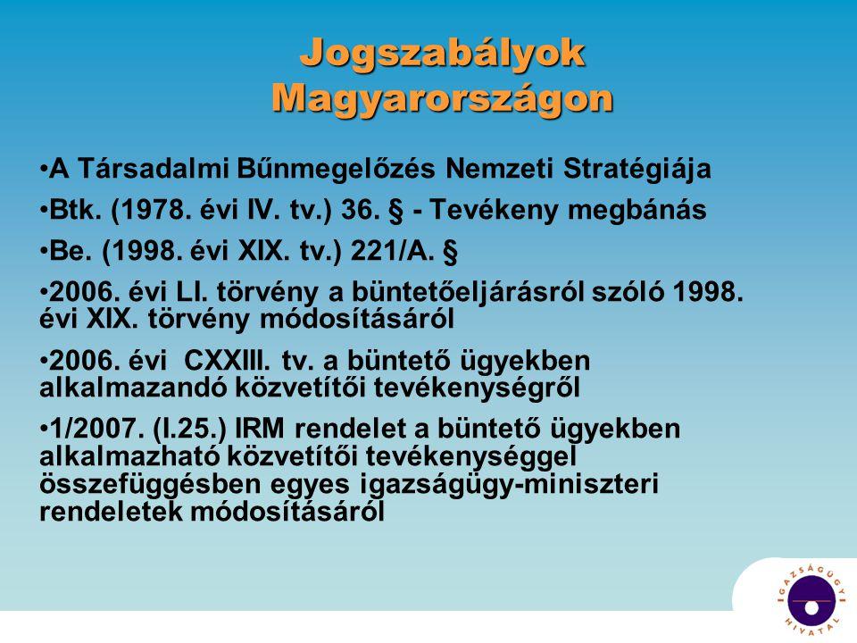 Jogszabályok Magyarországon A Társadalmi Bűnmegelőzés Nemzeti Stratégiája Btk.