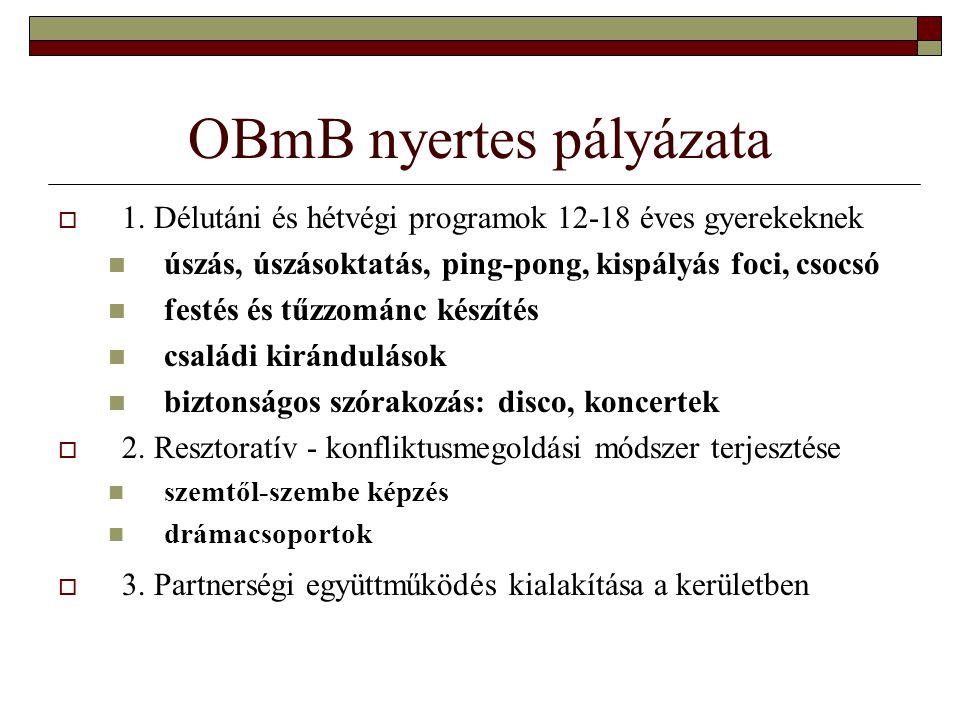 Kerületi Bűnmegelőzési Munkacsoport jelentkezési lap 1) Posta Júlia – Gulner Gyula Általános Isk.