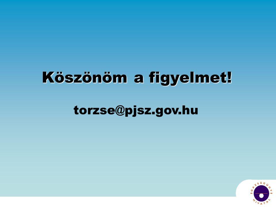 Köszönöm a figyelmet! torzse@pjsz.gov.hu