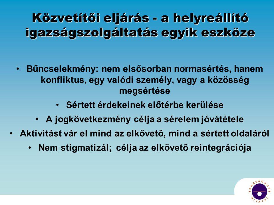 A büntető ügyekben alkalmazható közvetítői eljárás definíciója a Bktv.-ben A Bktv.
