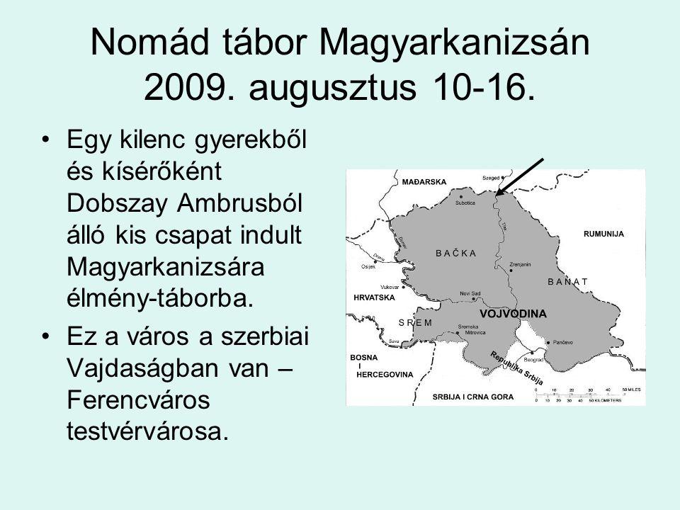 A tábor A Tisza partján, katonai sátrakból állt a tábor.