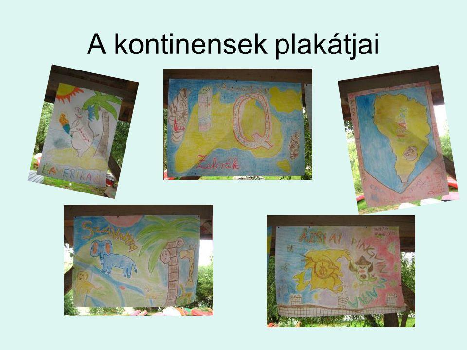 A kontinensek plakátjai