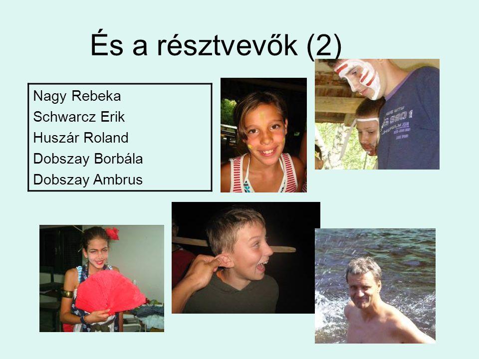 És a résztvevők (2) Nagy Rebeka Schwarcz Erik Huszár Roland Dobszay Borbála Dobszay Ambrus