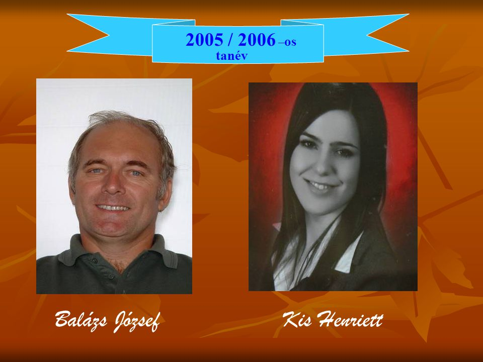 2005 / 2006 – os tanév Balázs József Kis Henriett