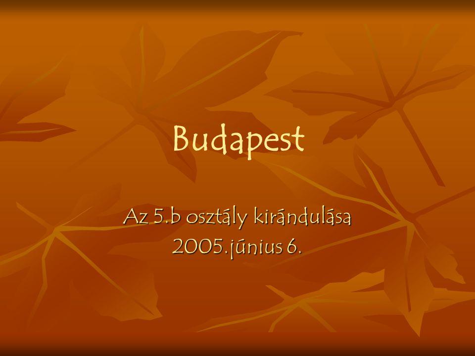 Budapest Az 5.b osztály kirándulása 2005.június 6.