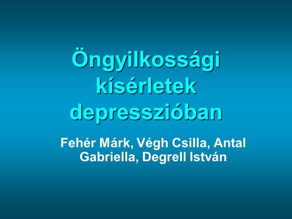 Öngyilkossági kísérletek depresszióban Fehér Márk, Végh Csilla, Antal Gabriella, Degrell István