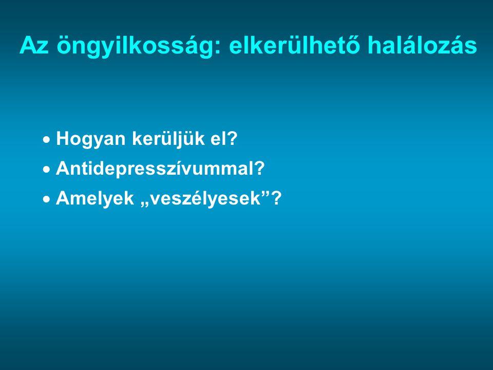 Antidepresszívumok és öngyilkosság Nature, 2005 2005.