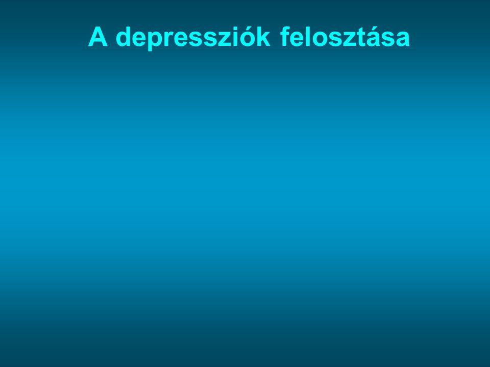 A depressziók felosztása
