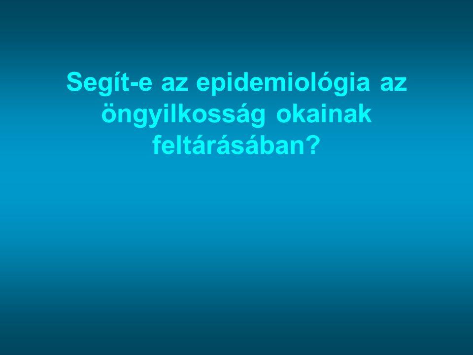 Segít-e az epidemiológia az öngyilkosság okainak feltárásában?