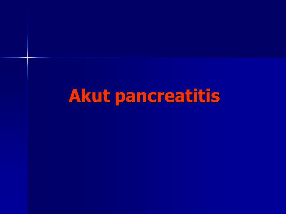 Klinikai jellemzők LABORATORIUMI ADATOK Enzimek Enzimek –Amylase: >3x -os emelkedés diagnosztikus Nem specifikus: nyálmirigybetegségek, bélperforáció, acidaemia Nem specifikus: nyálmirigybetegségek, bélperforáció, acidaemia Nincs definiálható összefüggés a betegség súlyossága és az amylase szint között Nincs definiálható összefüggés a betegség súlyossága és az amylase szint között –Lipase: az amilase-val együtt emelkedik, de később normalizálódik 7-14 nap között –Trypsin- specifikus, érzékeny, de drága –Phospholipase A2