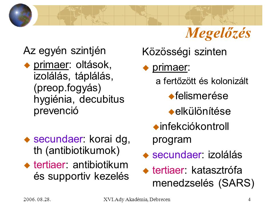 2006.08.28.XVI.Ady Akadémia, Debrecen45 Most melyiket gondolod a legvalószínűbb kórokozónak.