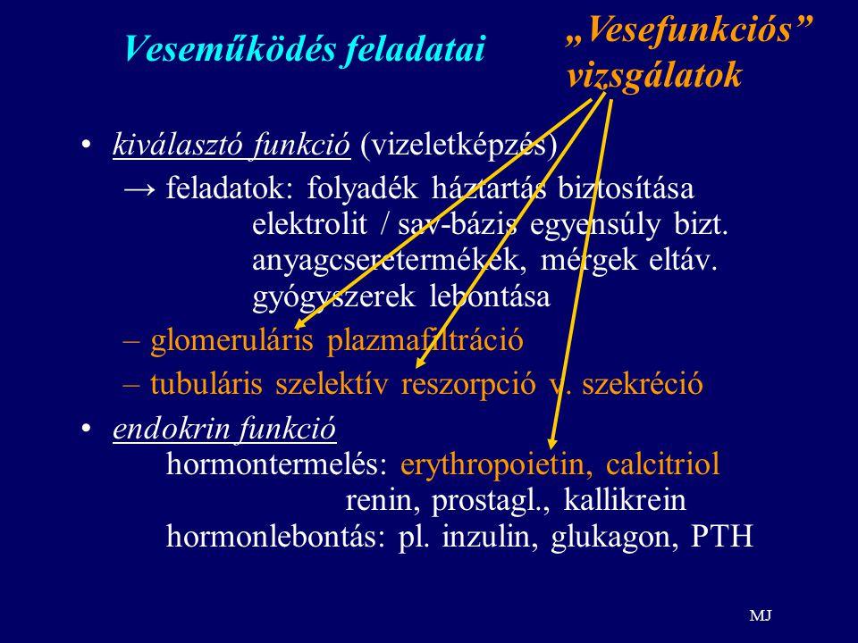 MJ Generalizált oedema gyakori okai Renalis oedema: ok:veseelégt.
