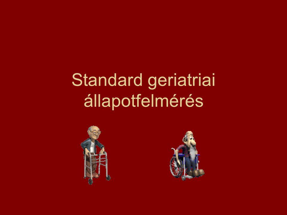 Standard geriatriai állapotfelmérés