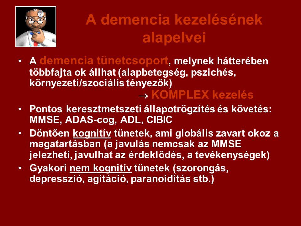 A demencia kezelésének alapelvei A demencia tünetcsoport, melynek hátterében többfajta ok állhat (alapbetegség, pszichés, környezeti/szociális tényező