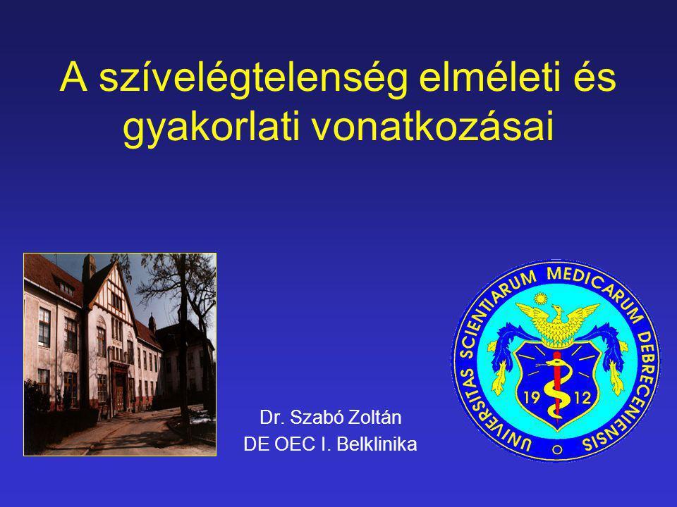 A szívelégtelenség elméleti és gyakorlati vonatkozásai Dr. Szabó Zoltán DE OEC I. Belklinika
