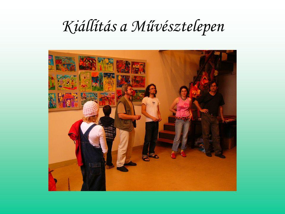 Kiállítás a Művésztelepen