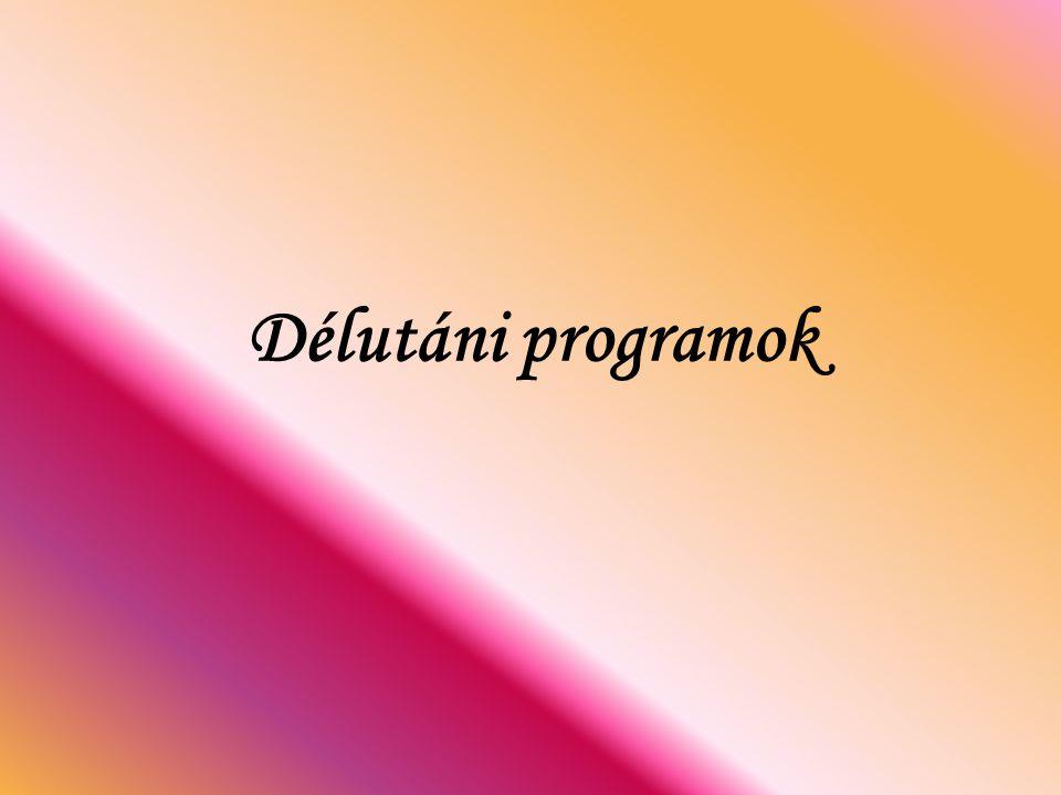 Délutáni programok