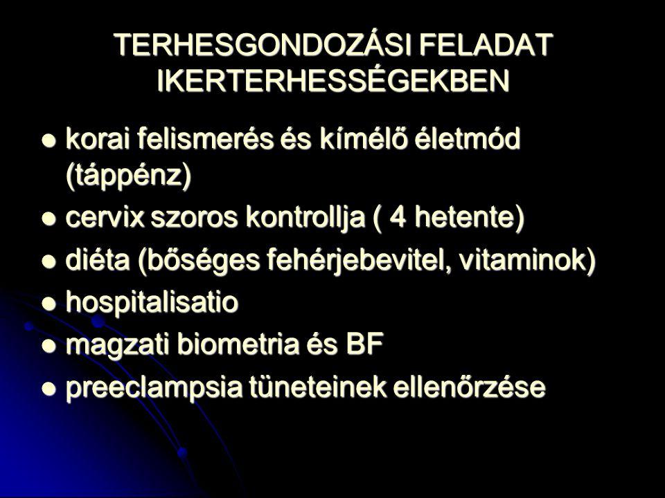 TERHESGONDOZÁSI FELADAT IKERTERHESSÉGEKBEN korai felismerés és kímélő életmód (táppénz) korai felismerés és kímélő életmód (táppénz) cervix szoros kon