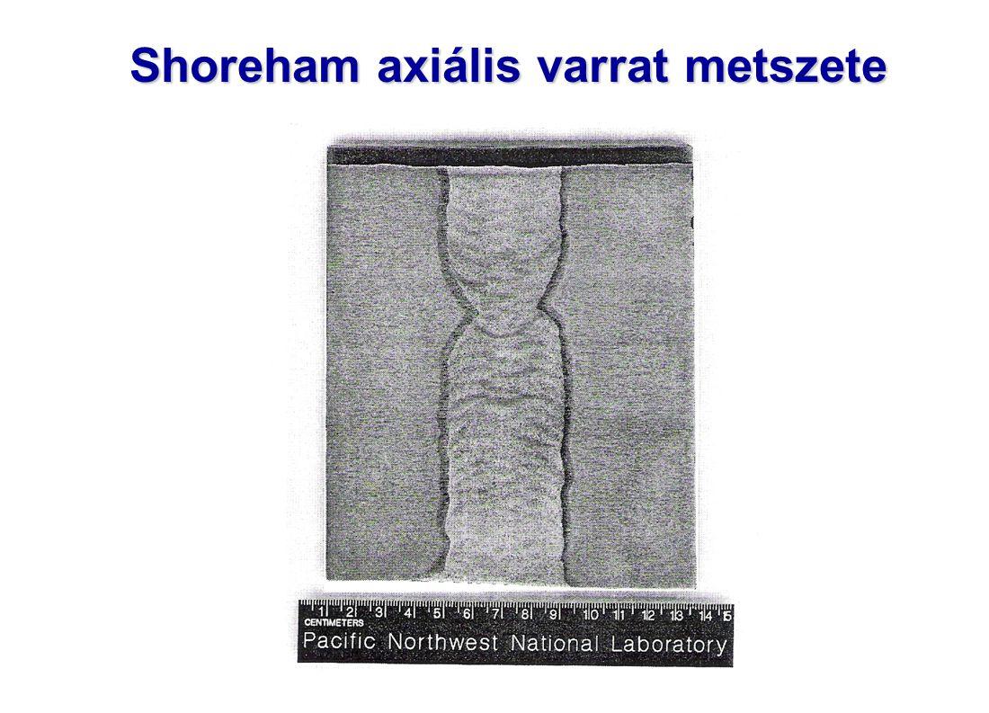 Shoreham axiális varrat metszete