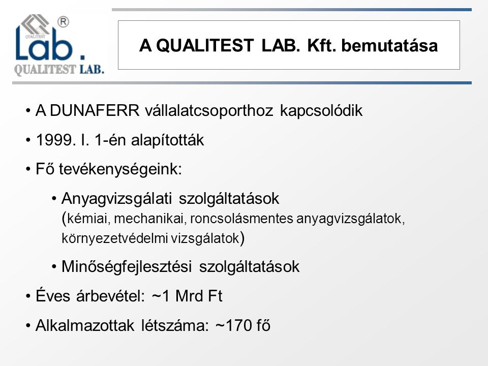 A QUALITEST LAB.Kft.