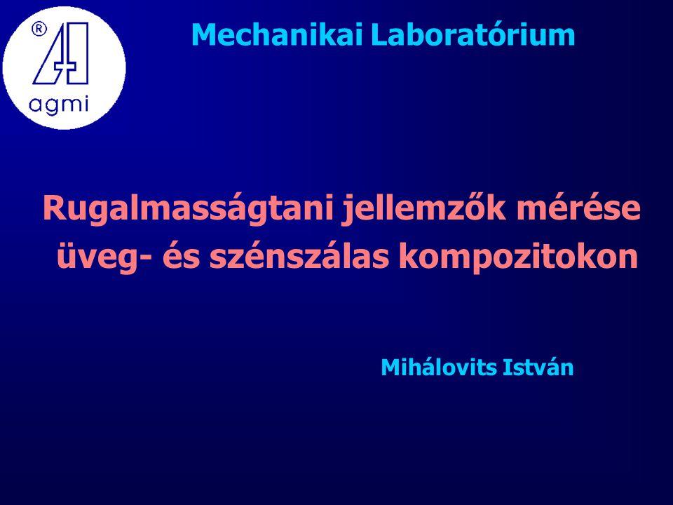 Mechanikai Laboratórium Rugalmasságtani jellemzők mérése üveg- és szénszálas kompozitokon Mihálovits István