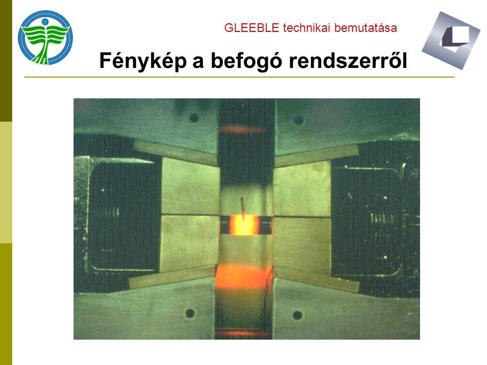 Fénykép a befogó rendszerről GLEEBLE technikai bemutatása