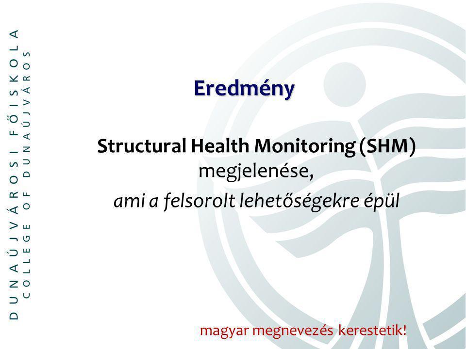 Eredmény Structural Health Monitoring (SHM) megjelenése, ami a felsorolt lehetőségekre épül magyar megnevezés kerestetik!