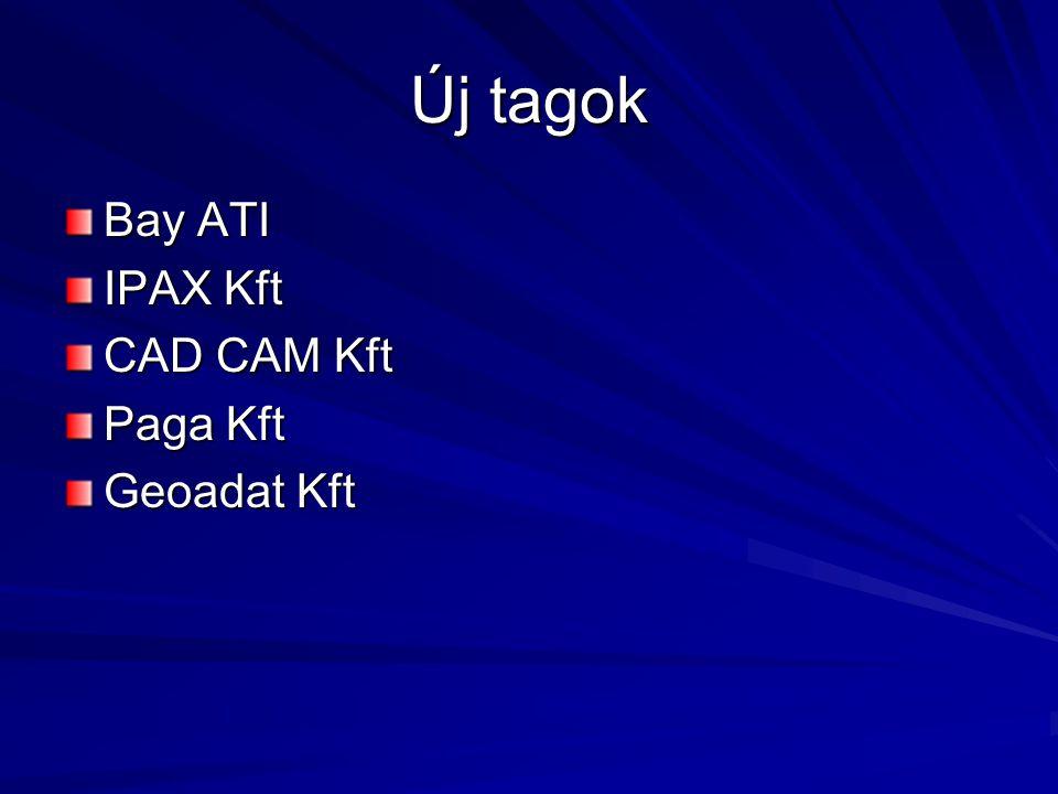 Új tagok Bay ATI IPAX Kft CAD CAM Kft Paga Kft Geoadat Kft