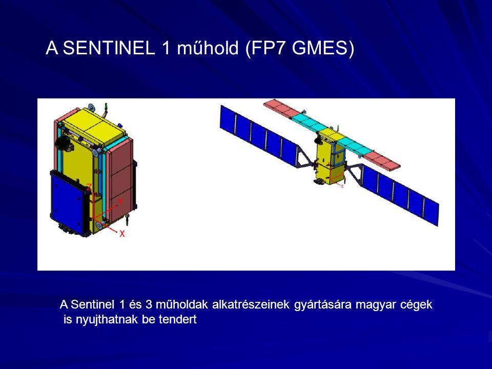 A SENTINEL 1 műhold (FP7 GMES) A Sentinel 1 és 3 műholdak alkatrészeinek gyártására magyar cégek is nyujthatnak be tendert