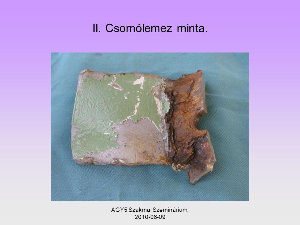 AGY5 Szakmai Szeminárium, 2010-06-09 II. Csomólemez minta.