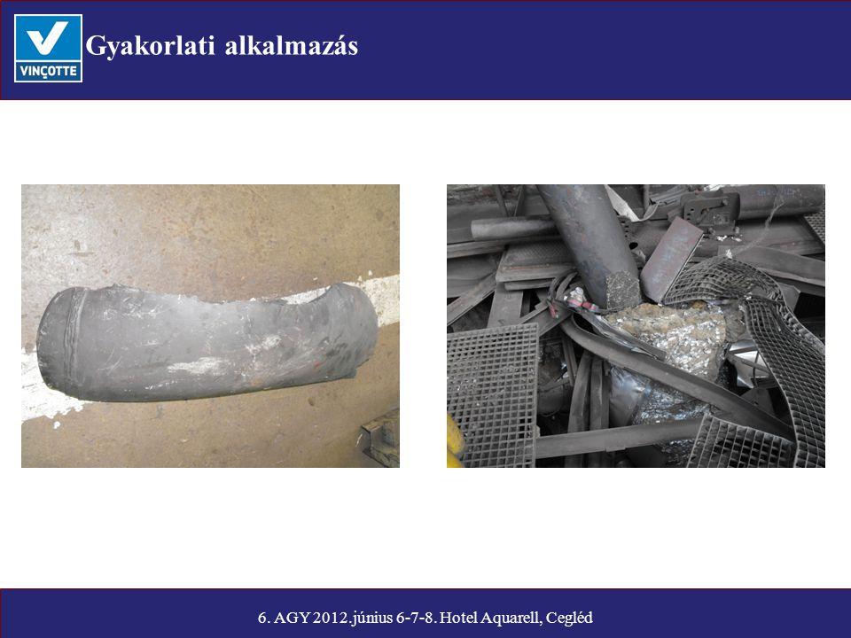 Gyakorlati alkalmazás 6. AGY 2012.június 6-7-8. Hotel Aquarell, Cegléd