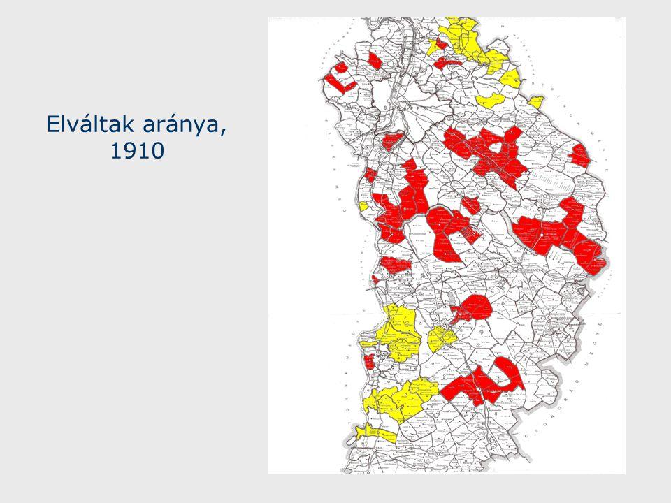Elváltak aránya, 1910