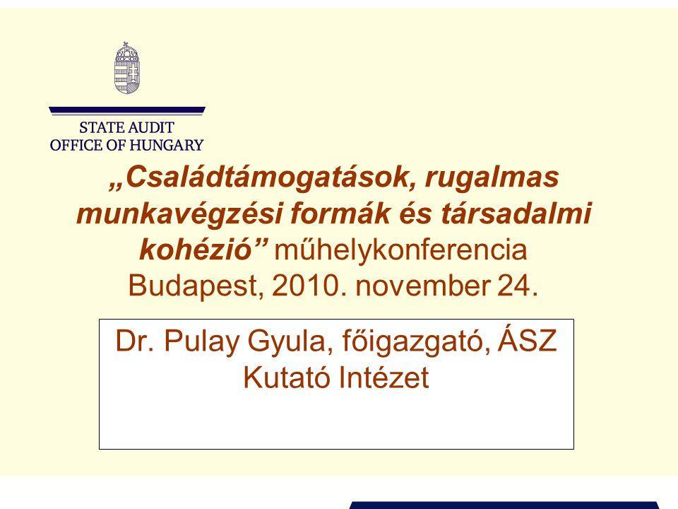 """""""Családtámogatások, rugalmas munkavégzési formák és társadalmi kohézió műhelykonferencia Budapest, 2010."""