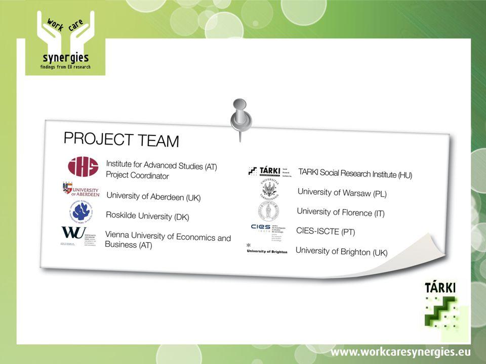 A projekt célja Cél: a munka-család témakörbe tartozó, már lezárult kutatási projektek eredményeinek széleskörű elterjesztése az érintettek körében A megcélzott szereplők köre: a helyi civil szervezetek, a politikai szféra döntéshozói, a szakszervezetek, a munkaerő-piac meghatározó szereplői (munkaadók, vállalatok képviselői), regionális szervezetek és szolgáltatók és egyéb érintettek.