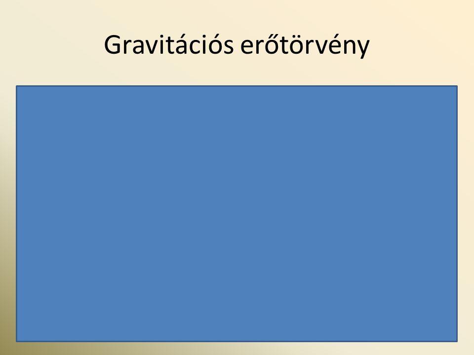 Gravitációs erőtörvény f : gravitációs állandó