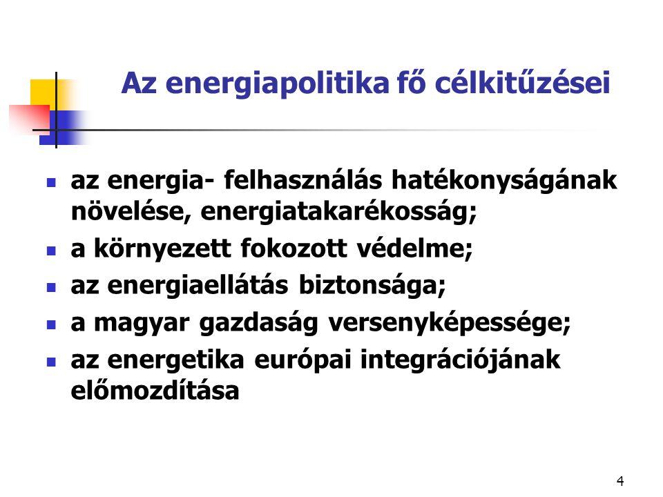 5 Az energiafogyasztás lényegesen lassabban növekedjen, mint a GDP .