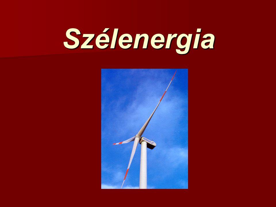 Szélenergia potenciál A szél energiaértéke A szélsebesség (v sz ) magasságtól való függése.