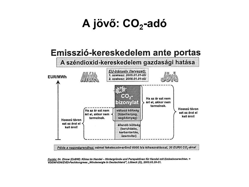 A jövő: CO 2 -adó