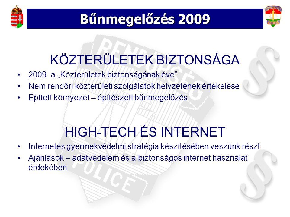 Bűnmegelőzés 2009 KÖZTERÜLETEK BIZTONSÁGA 2009.