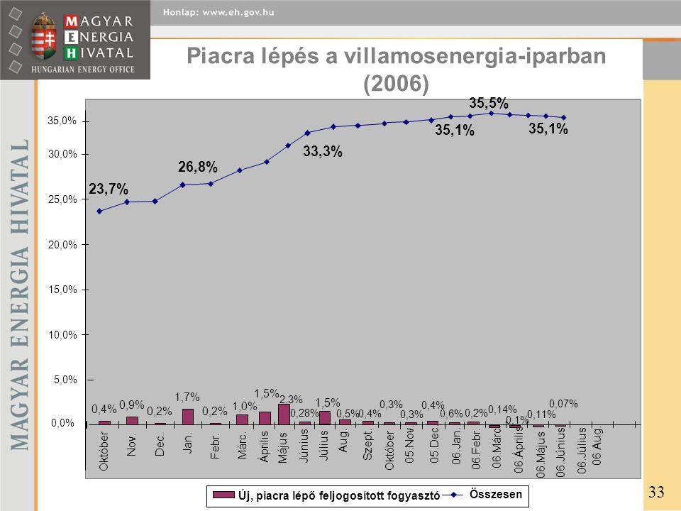 Piacra lépés a villamosenergia-iparban (2006) 33
