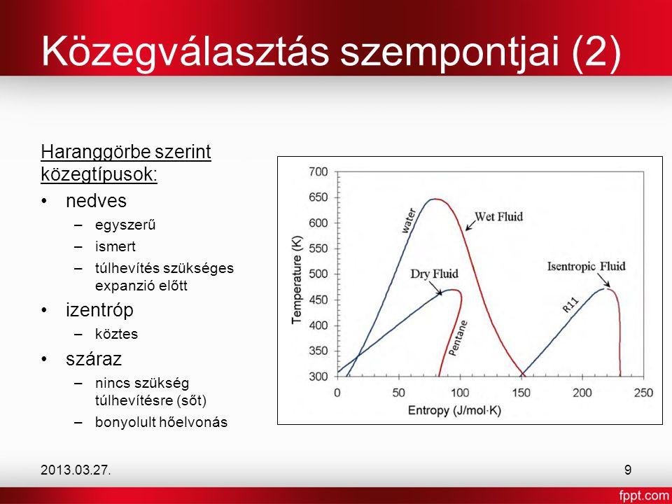 Modified 2-phase OFC összes lehetséges fejlesztés egyben komplex kapcsolás (3 expanziós gép) drága berendezések mérlegelni kell a teljesítménynövekedés és a költségnövekedés között 2013.03.27.20